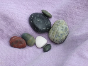 Stones polished by wave action at South Beach, Pacific Rim National Park