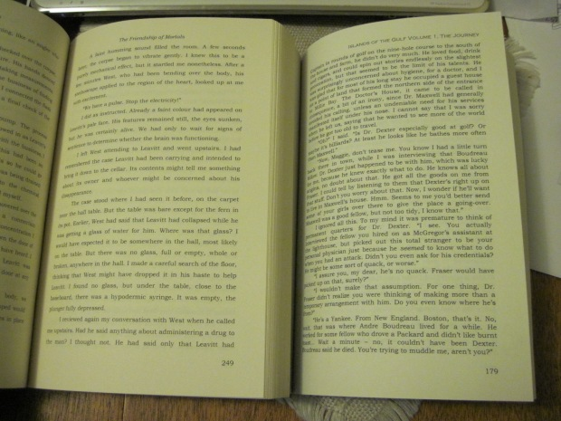 Line spacing. See the difference? Book 1 is on the left, Book 2 on the right.