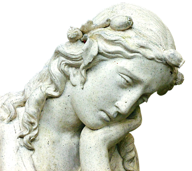 thinking, contemplation, statue