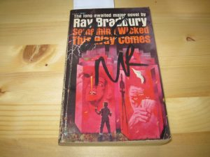 Copy of Ray Bradbury's Something Wicked This Way Comes used paperback