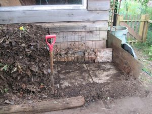 Compost heap flipped and moved