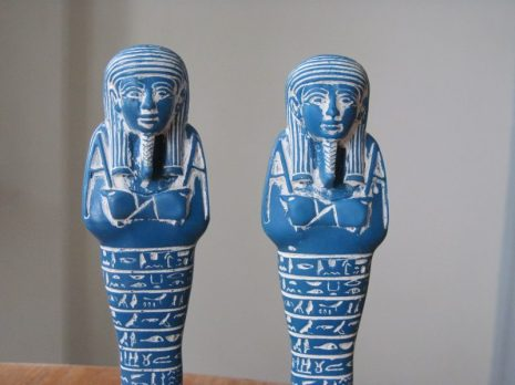 Reproduction shabti figurines from RBCM Egypt exhibit shop