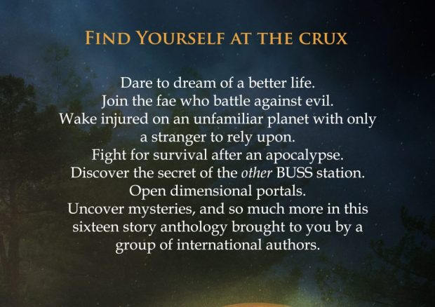 The Crux Anthology back cover description