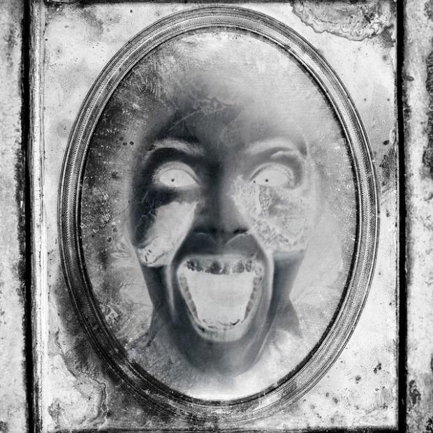 creepy portrait zombie book