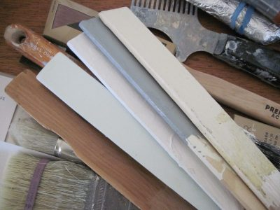 Paint colours, painting equipment