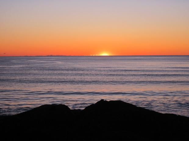 Sunset seen from Pettinger Point, Nov. 27, 2019.