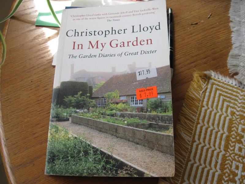 My copy of In My Garden by Christopher Lloyd