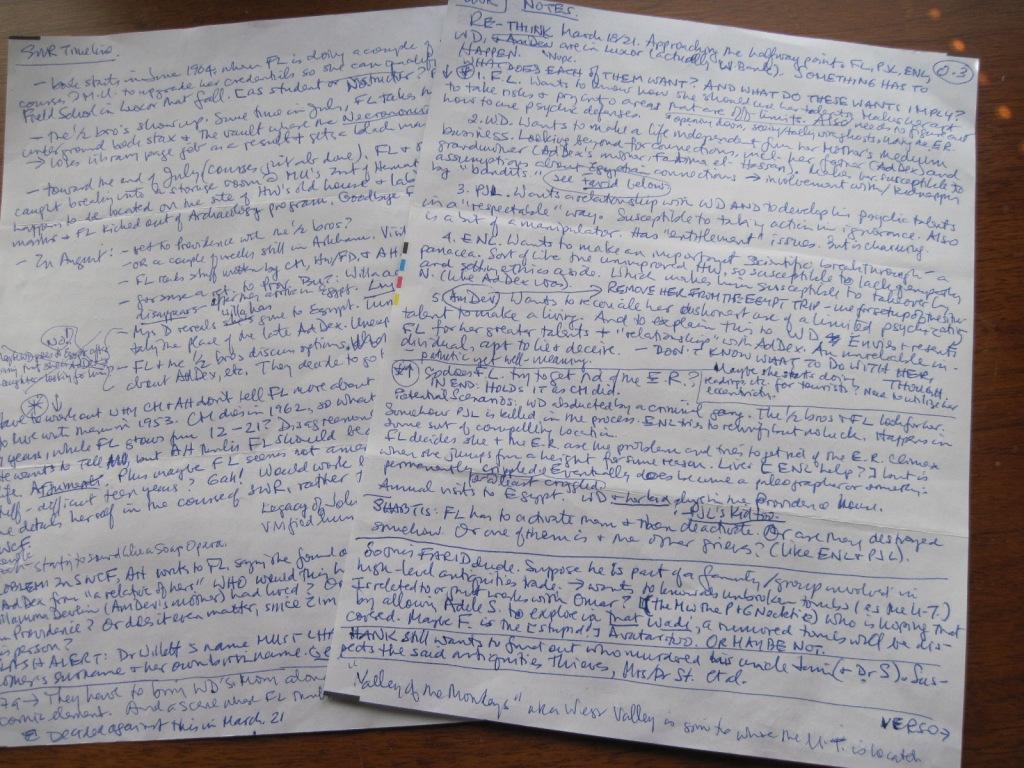 Novel writing notes